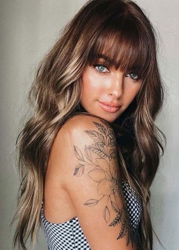 Stunning Long Hair Styles with Bangs