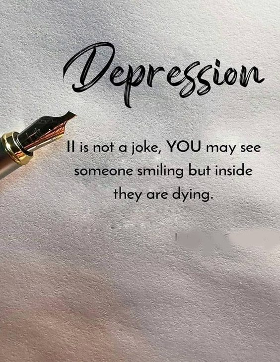 You May See Someone Smiling - Best Depression Quotes