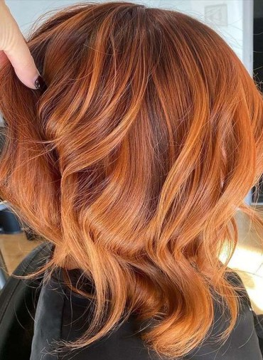 Modern Red Copper Hair Color Trends