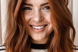Best Cinnamon Brown Lob Haircuts