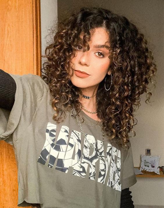 Delightful Shoulder Length Curly Hair for All Girls