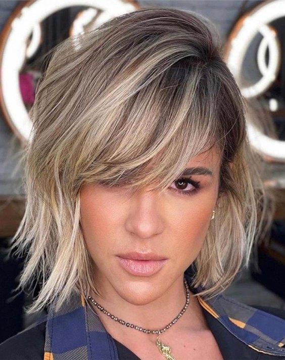 Unique Short Hair Color & Highlights for Blonde Girls