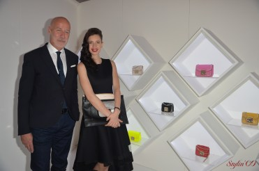 Eraldo Poletto, CEO of Furla and Kalki Koechlin, Bollywood actress