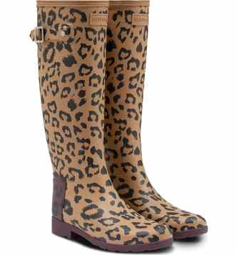 Hunter Boots in Leopard Print