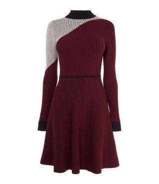 Karen Millen Ribbed Skater Dress