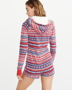 Abercrombie & Fitch Sleep Romper Fair Isle