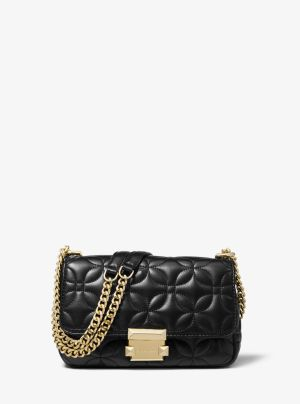 Michael Kors Quilted Small Sloan (oxblood)