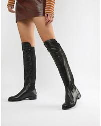 Carvela Leather Knee High Flat Boot