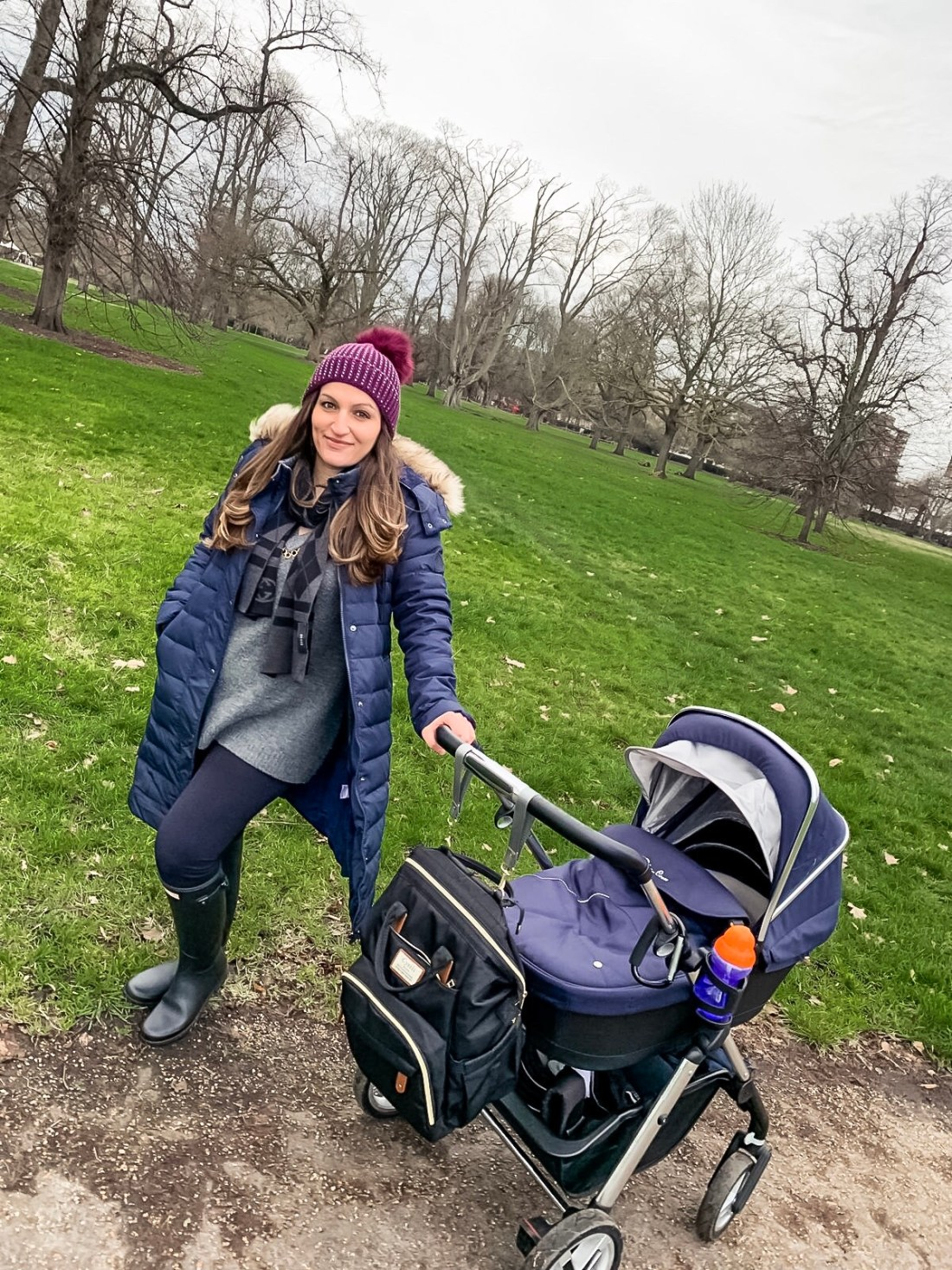 mummy and baby in the park