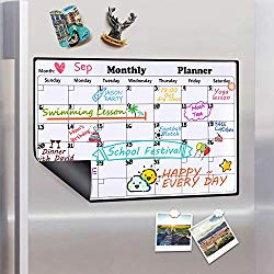 Magnetic Monthly Fridge Planner