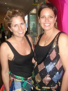 sass & bide's Sarah-Jane Clarke with sister-in-law Sarah Clarke at Mooloolaba's Fish on Parkyn
