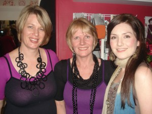 New owner of Soul Diva Sarah Roberts with manager Di Pattenden and Liv Mills from Metalicus