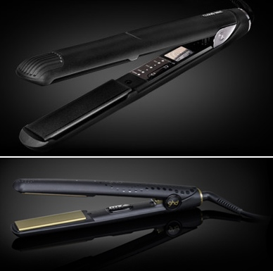 Above:  The Cloud Nine Iron; below: ghd Gold Classic Styler