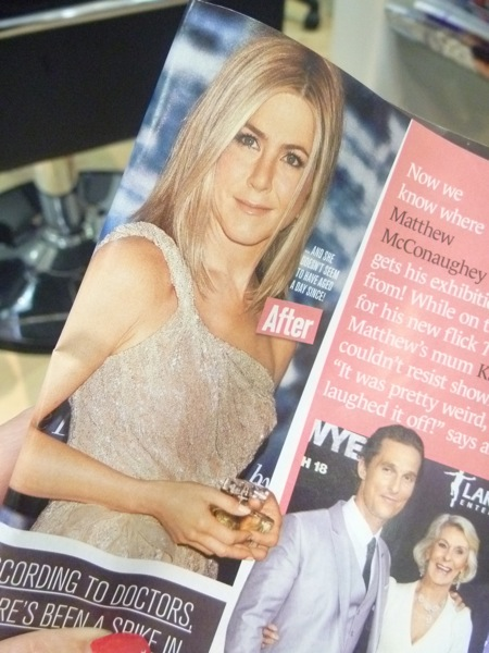 Yeh, sure, if you can make me look like Jen Aniston, go for your life!