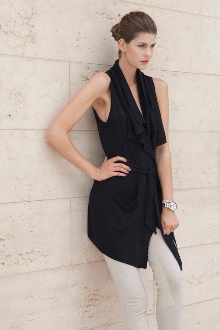 Gasperre cashmere sleeveless summer trench coat