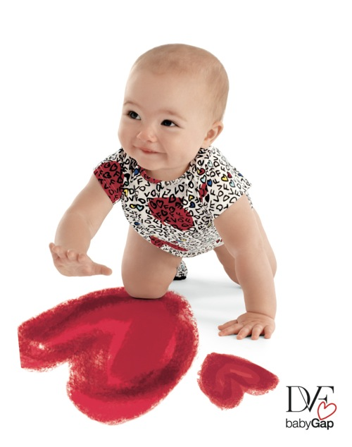 Diane von Furstenburg Wrap for BabyGap romper