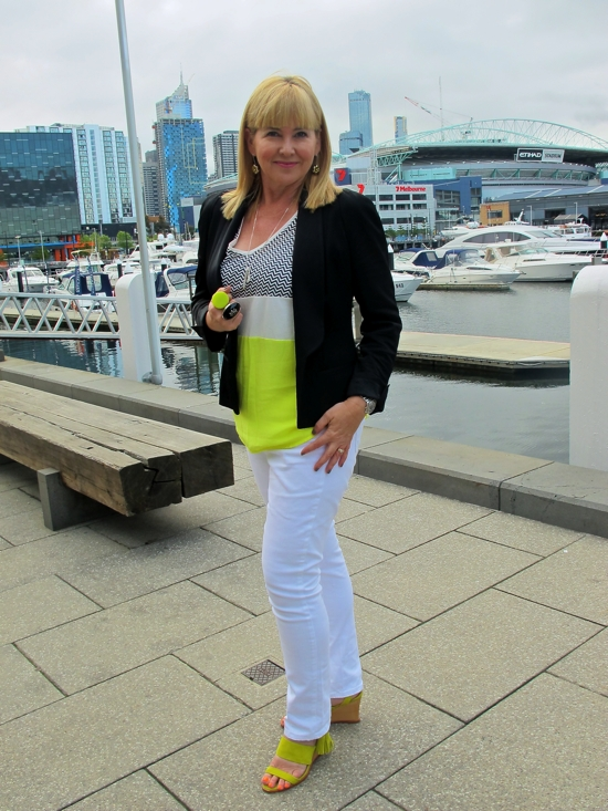 Keeping it Real: the weekend in Melbourne outfit | neon | chartreuse | sass and bide | white jeans