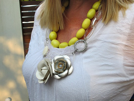 Sophie Kyron necklace layered with Vivid necklace from Piper Jordan