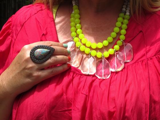 Samantha Wills ring | Red Phoenix Emporium necklace | neon