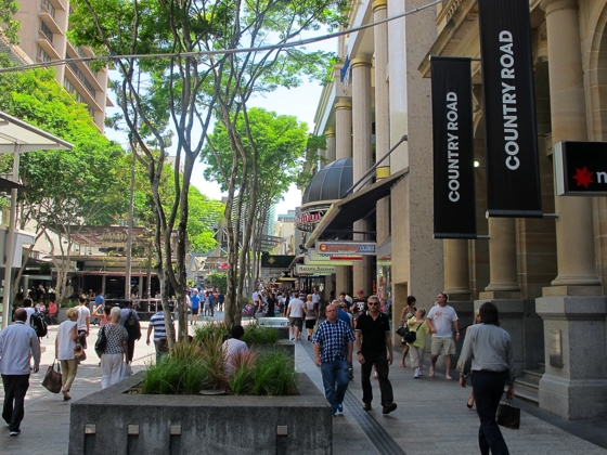 Country Road, Brisbane, Queen Street Mall