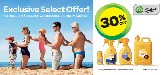 Sunscreen offer