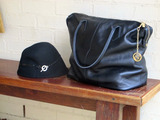 Mimco hat | Sterling and Hyde bag