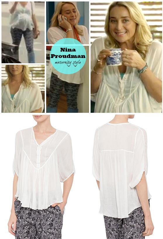 Lee Matthews Raggedy shirt as worn by Nina Proudman on Offspring Season 4
