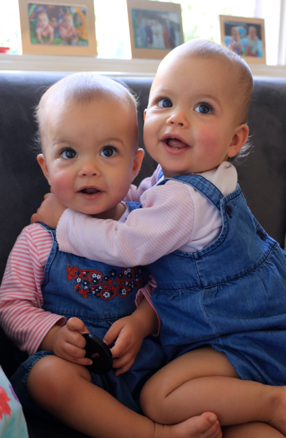 The Nina and Patrick baby Zoe  played by twins Willow and Mia Sindle