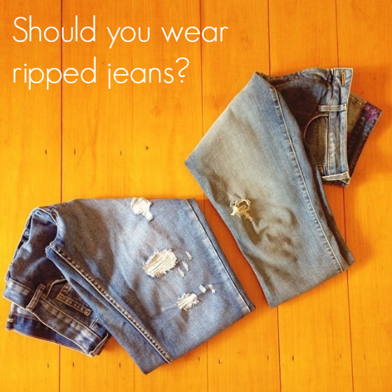 Should you wear ripped jeans?
