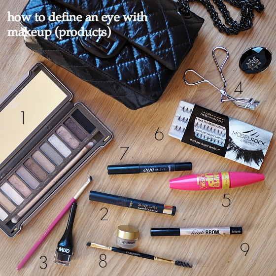 how to define an eye with makeup - products