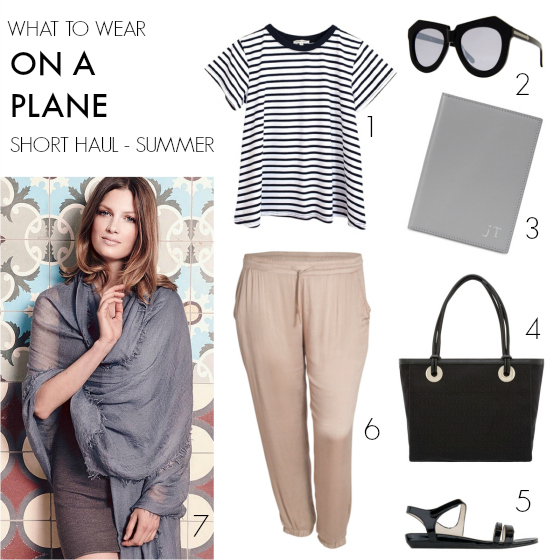 What to wear on a plane - short haul - summer   11 tips for what to wear on a plane