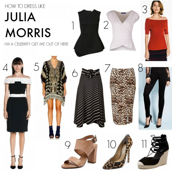 How to dress like Julia Morris on I'm a Celebrity Get Me Out of Here