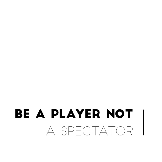 Be a player not a spectator | #12before50 | Styling You