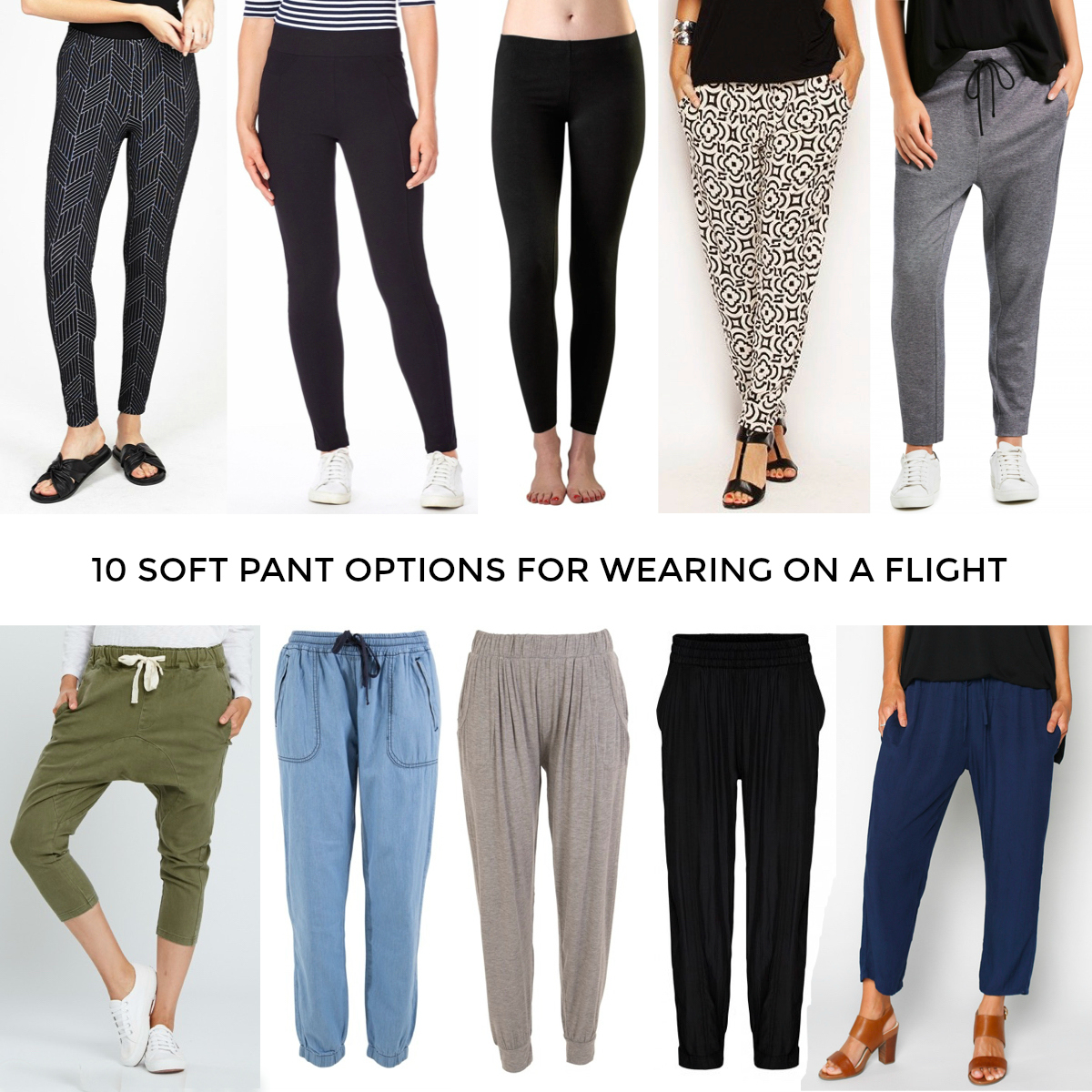 10 Soft Pant Options For Wearing On A Flight When