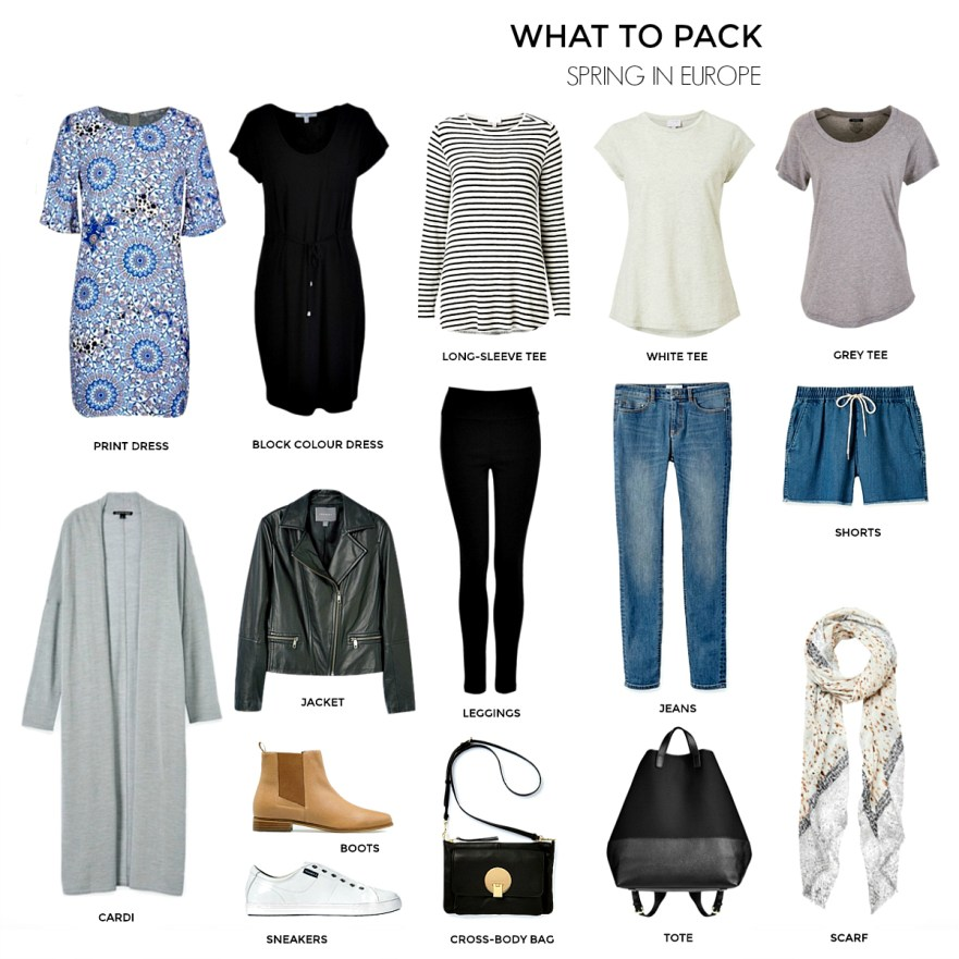 What to pack for spring in Europe | Travel capsule wardrobe | Styling You