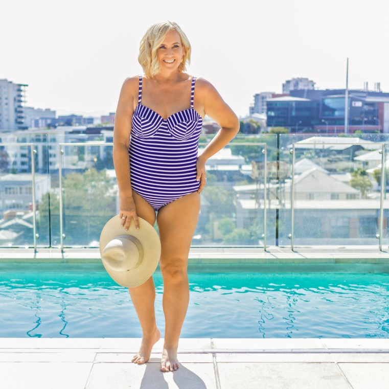 Lilly & Lime one-piece | swimsuit solution for D-cup and up | Nikki Parkinson/Styling You. Photo by Sarah Keayes/The Photo Pitch