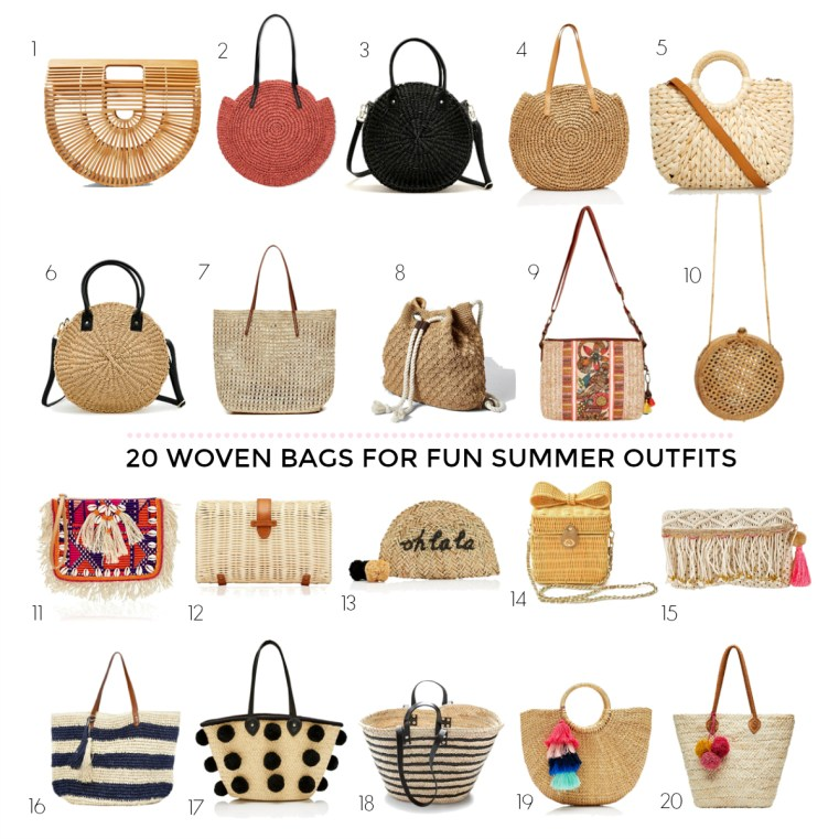 The IT bag of summer | 20 woven bags for fun summer outfits