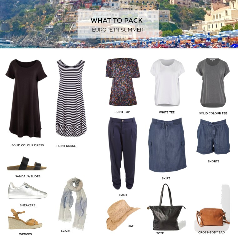 What to pack for Europe in summer 2018 | Styling You