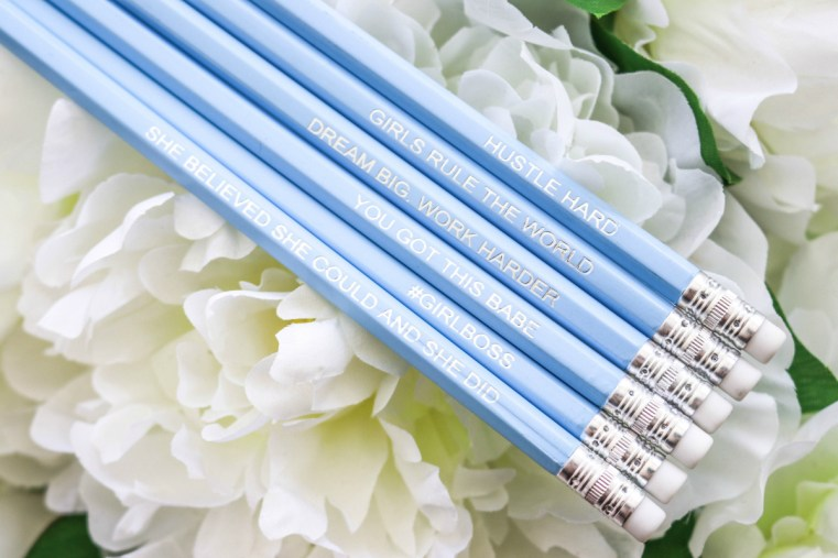 Miss Monogram gift bag inspo pencils