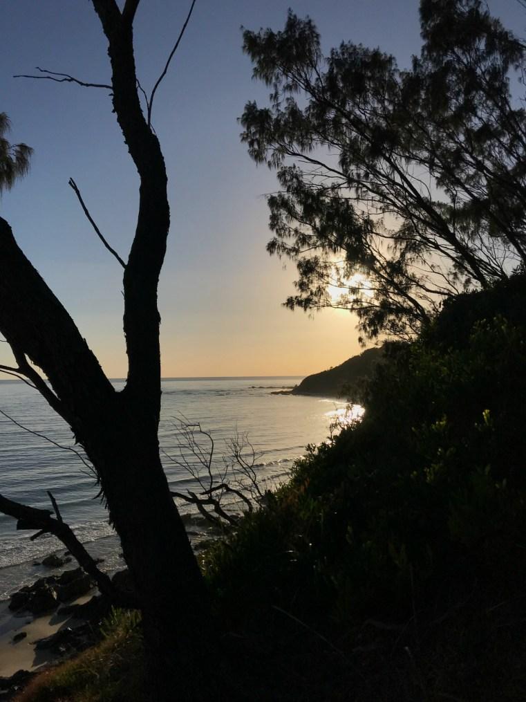 Sunrise over Wategos Beach, Byron Bay