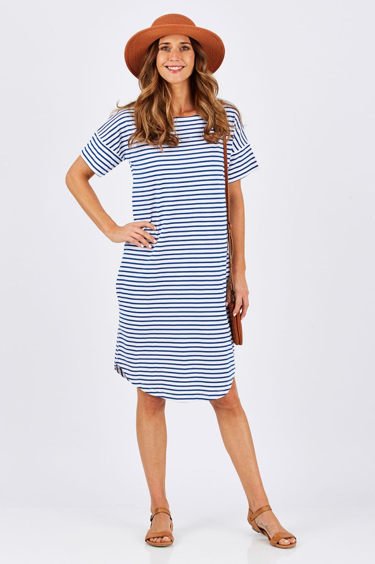 bird keepers The Cotton Striped dress