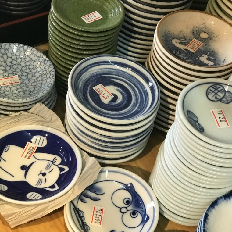 Japanese porcelain, Tsukiji Outer Markets, Tokyo, Japan | 48 hours in Tokyo