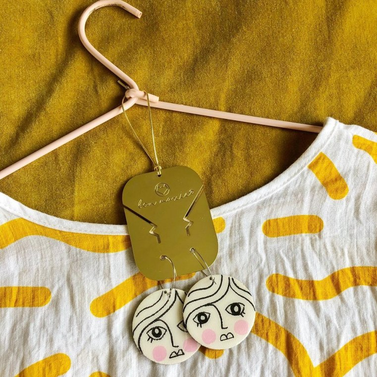 Bon Maxie earring outfit planner