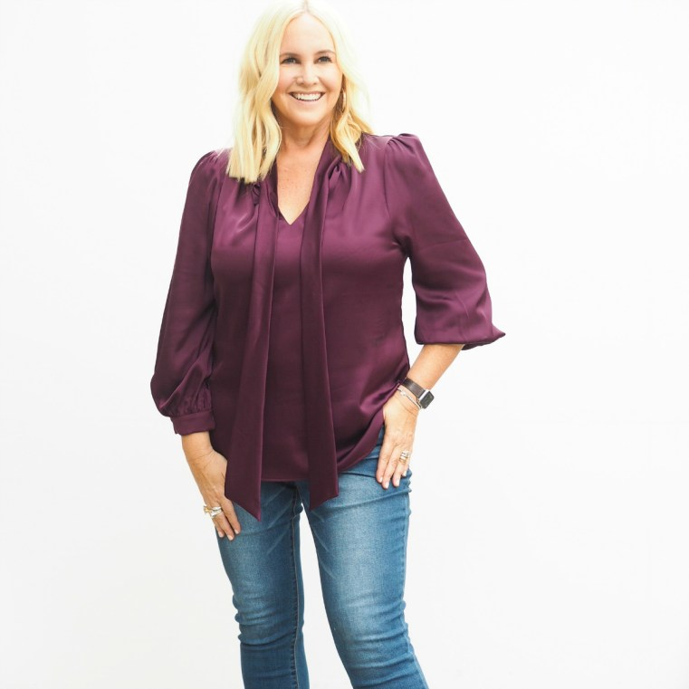 Sacha Drake blouse Motto jeans Uberkate cocktail ring