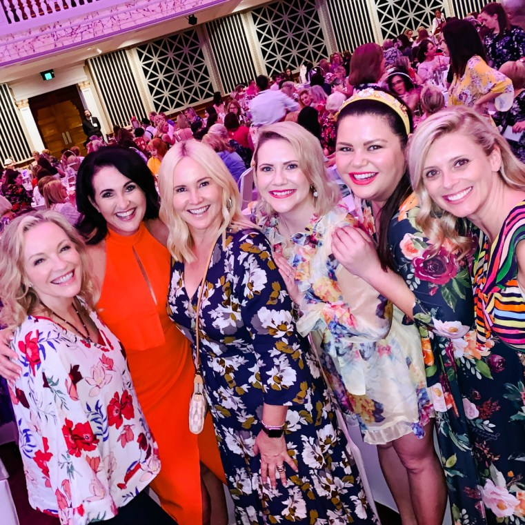 (Share the Dignity Rochelle Courtenay and ambassador Rebecca Gibney) Brooke Falvey Nikki Parkinson Rebecca Nolan Stacey McGregor