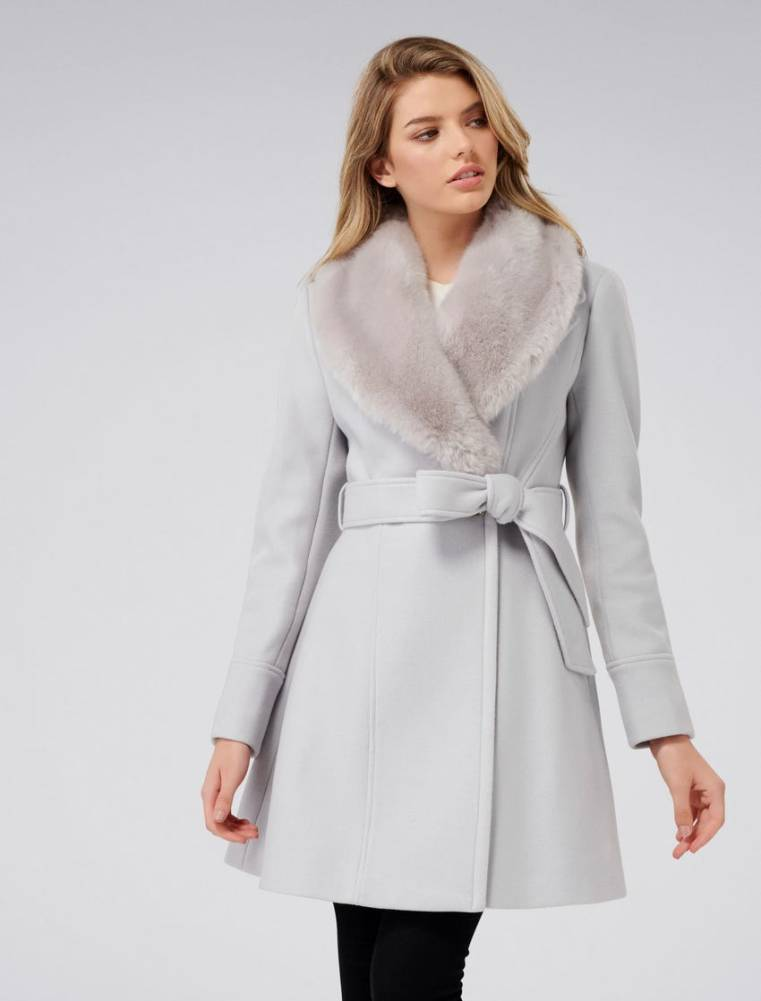 Forever New Emilia petite skirt coat