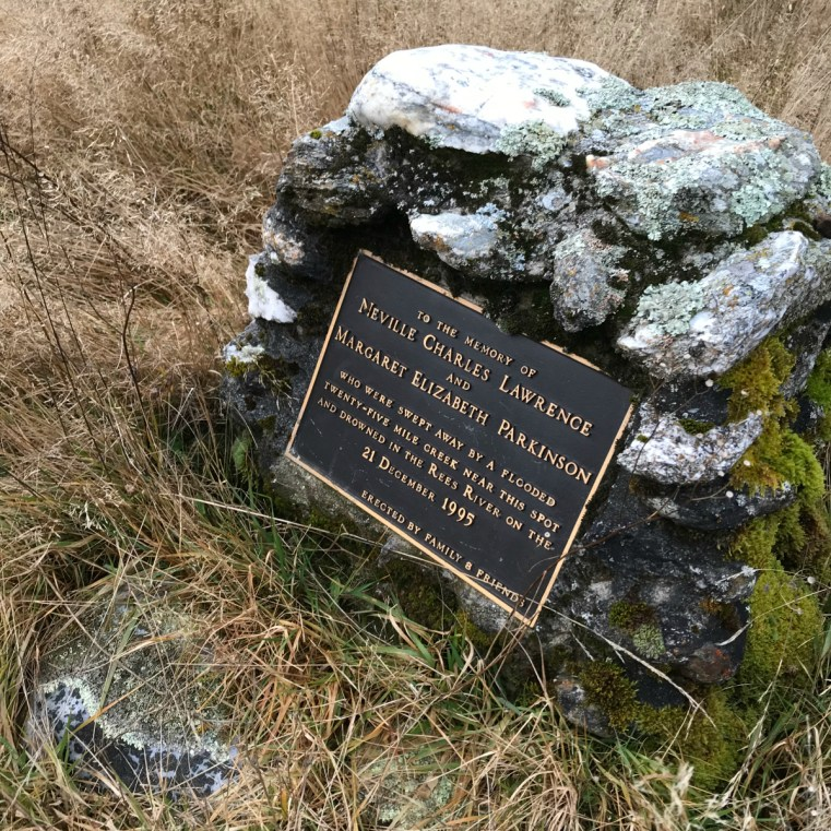 Memorial to Neville Lawrence and Margaret Parkinson | Twenty Five Mile Creek, Rees Valley, New Zealand