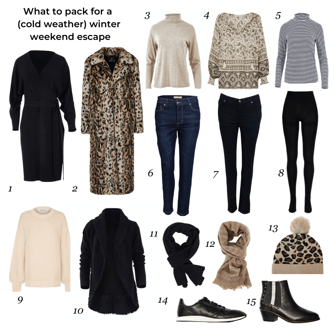 What to pack for winter weekend escape (cold weather)