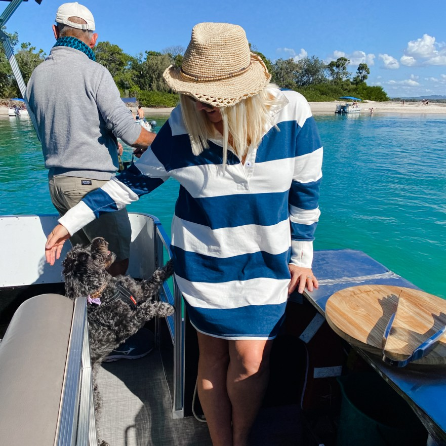 What to do in Noosa in winter: Pelican Boat Hire barbecue boat