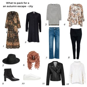 What to pack autumn escape - city